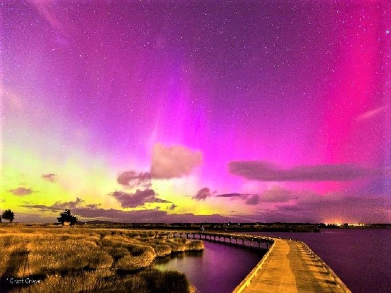 Aurora Australis di Selandia Baru,