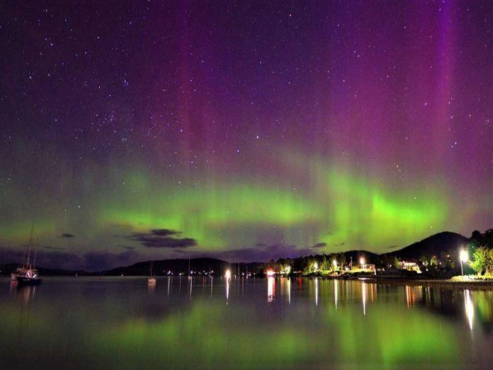 Aurora Australis di Tasmania
