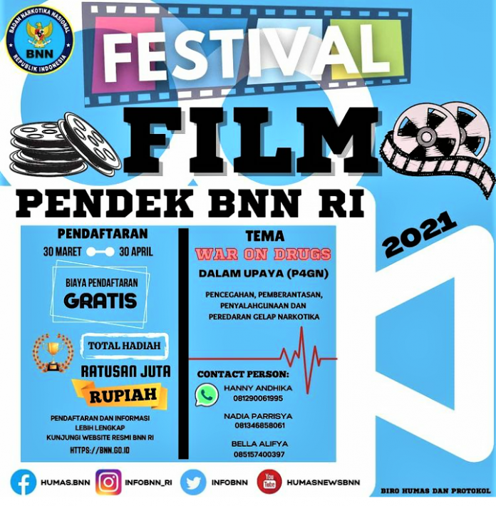 Festival Film Pendek BNN RI 2021, Yuuuk daftar!!
